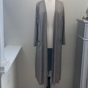 Lularoe Sarah Cardigan Large Silver Elegant NWT
